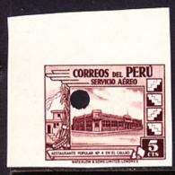 Peru (1938) Restaurant. Imperforate Specimen With Control Punch.  Yvert No PA49, Scott No C49. - Peru