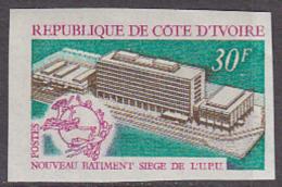Ivory Coast (1970) New UPU Building. Imperforate.  Scott No 295. - UPU (Universal Postal Union)