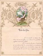 1907 LETTRE DE NOUVEL AN - NEW YEAR LETTER - NIEUWJAARSBRIEF - DOREE EN RELIEF - LOO 1907 ! DECOUPIS MYOSOTIS - Announcements