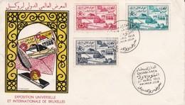 FDC  EXPO UNIVERSELLE De BRUXELLES 1958 - Morocco (1956-...)