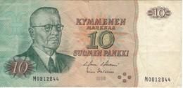 BILLETE DE FINLANDIA DE 10 MARKKAA DEL AÑO 1980  (BANKNOTE) - Finlandia