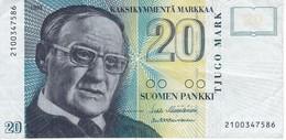 BILLETE DE FINLANDIA DE 20 MARKKAA DEL AÑO 1993  (BANKNOTE) - Finland