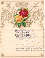 1908 LETTRE DE NOUVEL AN - NEW YEAR LETTER - NIEUWJAARSBRIEF - DOREE EN RELIEF - LOO 1908 ! DECOUPIS ROSE - Announcements