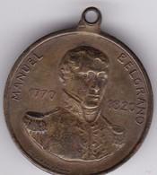 MANUEL BELGRANO 1770-1820. COLEGIO NACIONAL DE BUENOS AIRES COLEGIO SAN CARLOS DON M BELGRANO. COTTUZZO . MEDALLA.-BLEUP - Jetons En Medailles