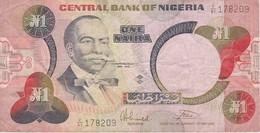 BILLETE DE NIGERIA DE 1 NAIRA DEL AÑO 1979 (BANKNOTE) - Nigeria