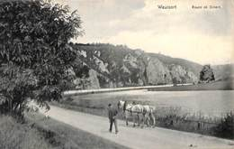 Waulsort - Route De Dinat (animée, Chevaux De Halage, 1908) - Hastière
