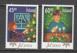 Iceland MNH Michel Nr 1049/50 From 2003 / Catw 2.50 EUR - Neufs