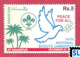 Pakistan Stamps 2014, National Scout Jamboree, Pigeon, Bird, MNH - Pakistan