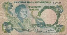BILLETE DE NIGERIA DE 20 NAIRA DEL AÑO 1984 (BANKNOTE) - Nigeria