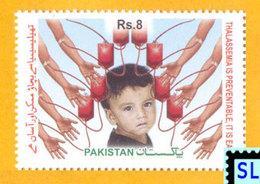 Pakistan Stamps 2012, Prevention Of Thalassemia Major, Medical, MNH - Pakistan