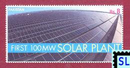 Pakistan Stamps 2015, First 100MW Solar Plant, Energy, MNH - Pakistan