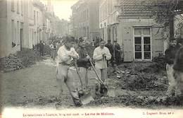 Louvain Leuven - Cataclysme 1906 - La Rue De Malines (top Animation, L. Lagaert) - Leuven