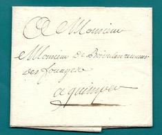 Morbihan - Hennebon Pour Le Receveur Des Fouages à QUIMPER (impots Local). VOIR DESCRIPTION - 1701-1800: Précurseurs XVIII