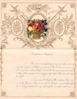 1908 LETTRE DE NOUVEL AN - NEW YEAR LETTER - NIEUWJAARSBRIEF - DOREE EN RELIEF - LOO 1908 ! DECOUPIS SUPERBE - Announcements