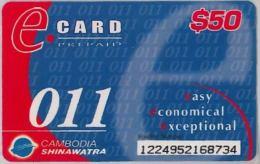 PREPAID PHONE CARD-  CAMBOGIA (E15.1.8 - Kambodscha