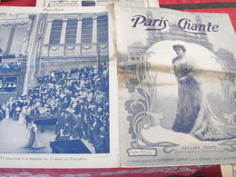PARIS QUI CHANTE /ADELINA PATTI /TROCADERO /POLAIRE NOBLET GALLOIS/ - Books, Magazines, Comics
