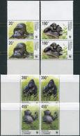 Congo (Kinshasa) 2002. Michel #1708/11 MNH/Luxe. Eastern Lowland Gorilla. (Ts12) - Gorilles