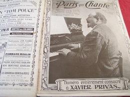 PARIS QUI CHANTE /XAVIER PRIVAS /LUCIENNE DUVERNEUIL /FRANCINE LOREE - Books, Magazines, Comics