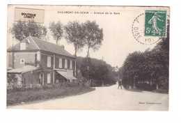 60 Chaumont En Vexin Avenue De La Gare Cpa Animée Edit Bazar Chaumontois - Chaumont En Vexin
