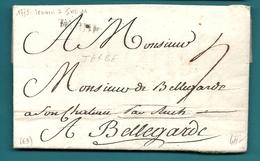 Hautes Pyrénées - Tarbes Pour Le Chateau De BELLEGARDE. LAC De 1773 - 1701-1800: Précurseurs XVIII