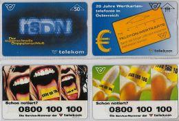 LOT 4 PHONE CARD-   AUSTRIA (E17.16.5 - Oesterreich