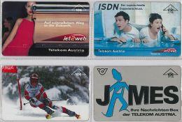 LOT 4 PHONE CARD-   AUSTRIA (E17.18.5 - Oesterreich