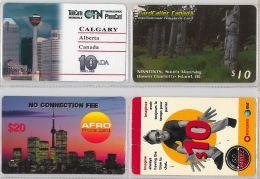 LOT 4 PREPAID PHONE CARD-  CANADA (E18.11.1 - Canada