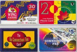 LOT 4 PREPAID PHONE CARD-  CANADA (E18.11.5 - Canada