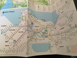 City & Transit Map Talinn - Subway Bus Tram - World