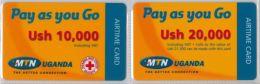 LOT 2 PREPAID PHONE CARD-  UGANDA (E20.27.5 - Uganda