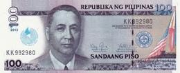 Philippines P.221 100 Piso 2013 Unc - Filippine