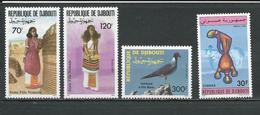 DJIBOUTI Scott 706-707, 708, 720 Yvert 700-701, 702, 713A  (4) ** Cote 8,50 $ 1993 - Djibouti (1977-...)