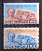 Vaticano 1954 Sass. (174-175) 25°patti Lateranensi MNH - Unused Stamps
