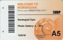 STATI UNITI KEY CABIN  Norwegian CRUISE LINE  Epic - SHIPPING COMPANY - Hotelkarten