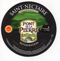Avr18   81523  étiquette Saint Nectaire   Pont De La Pierre - Cheese