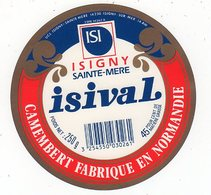 Avr18   14055  étiquette Camembert   Isival - Cheese