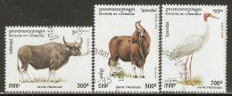 Cambodia 1995 Mi# 1511-1513 Used - Protected Wildlife - Cambodia