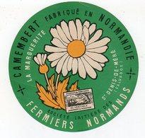 Avr18   14089  étiquette Camembert  La Marguerite - Cheese