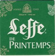 NEW 1 SOUS BOCK BIERDECKEL COASTER, BIERVILTJE, SOTTO BICCHIERI, Carton   LEFFE  De PRINTEMPS 2018 Scan Recto Verso - Beer Mats