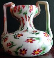 RARE  FRATELLI TOSO PETIT VASE ' Murrine Floreale ' 1910  VERRE MURANO ANTIQUE Miniature Art Glass Vase VETRERIA MURRINA - Verre & Cristal