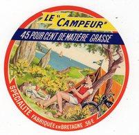 Avr18   56030   étiquette  Camembert  Le Campeur - Cheese