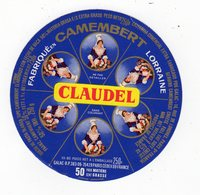 Avr18   55065   étiquette  Camembert   Claudel   8 Portions - Cheese