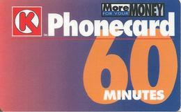 CARTES+PREPAYEES-GB-Magnetiqe-60 Mn-K PHONECARD-Plastic Epais-GRATTE- TBE- - Royaume-Uni