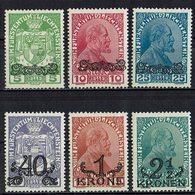 Liechtenstein 1920 // Mi. 11/16 * - Liechtenstein