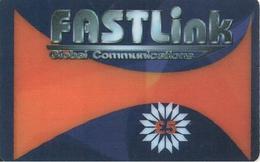 CARTE+PREPAYEE-GB-FASTLINK-5£-GLOBAL COMMUNICATIONS-Plastic Epais-GRATTE- TBE- - Royaume-Uni