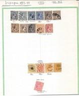 ESPAGNE 20 Feuilles De Timbres  Extraites D'un Album Ancien. - Collections (without Album)