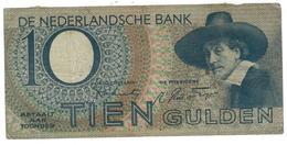 Netherlands, 10 Gulden 1944 , Series 4 BQ. G. - [2] 1815-… : Kingdom Of The Netherlands