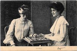 CPA échecs Chess Jeu De Dames Circulé En 1903 - Schach