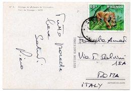 RWANDA - VILLAGE DE PECHEURS DE VITSHUMBI - PARC DE VIRUNGA / THEMATIC STAMP-ANIMAL - Rwanda