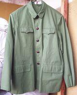 Vintage Chinese Qingzhi Uniform Olive Tunic - Uniforms
